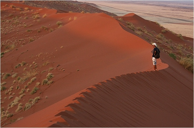 I'm in the middle of the Namib Desert, the oldest desert in the world.