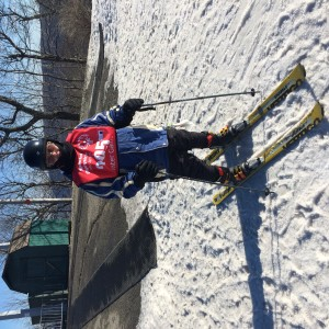 Christopher Wolf gets ready to head downhill at the Winter Special Olympics at Mountain Creek last month.
