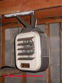 Electric Garage Heater With Wall Thermostat. Best Electric
