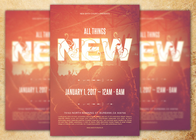 All Things New Church Flyer Template Inspiks Market