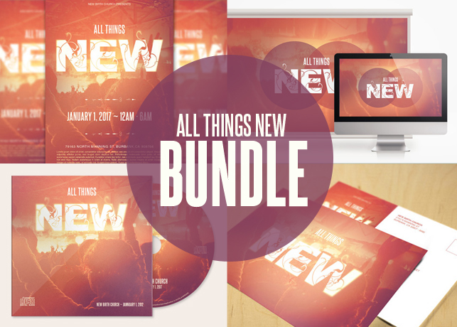 All Things New Church Template Bundle Inspiks Market