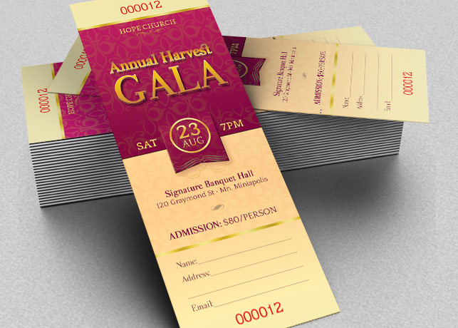 Harvest Gala Ticket Template Inspiks Market