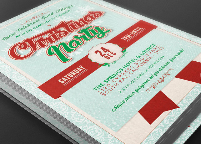Church Christmas Party Flyer Template Inspiks Market