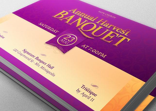 Harvest Banquet Postcard Template Inspiks Market