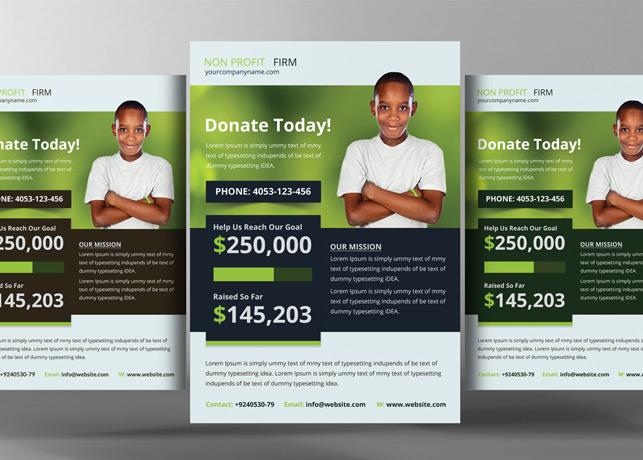 Church Charity Donation Flyer Template Inspiks Market