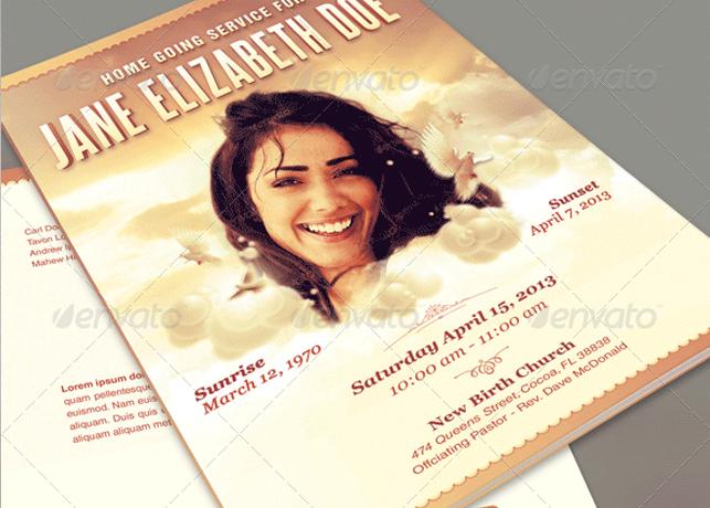 Funeral Program template adefisjuventudinternacional