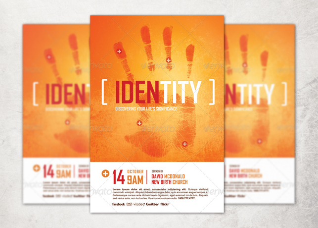 Identity Church Flyer Template Inspiks Market
