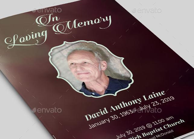 In Loving Memory Funeral Program Template Inspiks Market