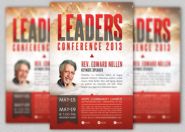 Leadership Conference Church Flyer Template Inspiks Market