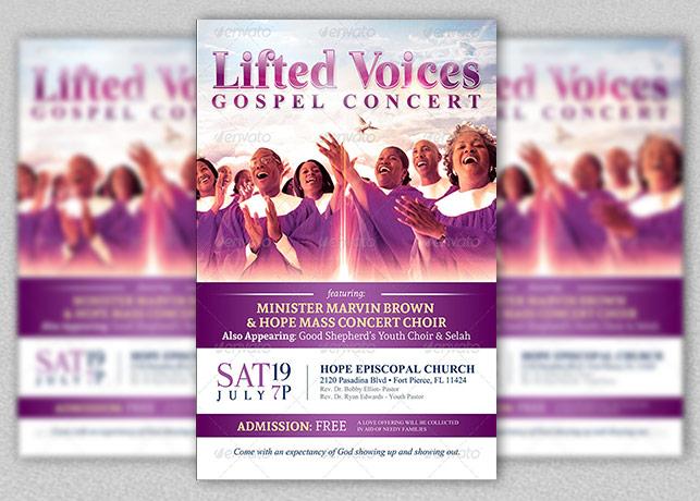 Modern Gospel Concert Church Flyer Template Inspiks Market