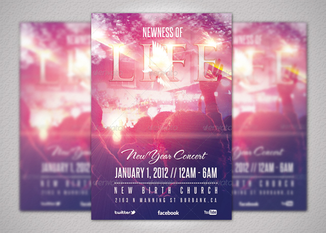 Newness of Life Concert Flyer and CD Inspiks Market
