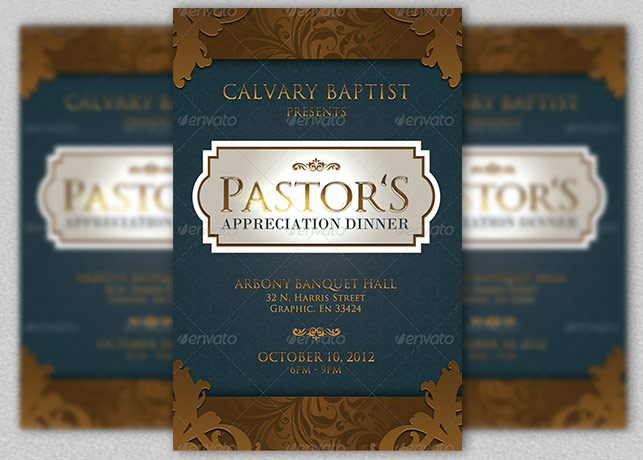 Pastor Appreciation Dinner Church Flyer and CD Inspiks Market - Dinner Flyer