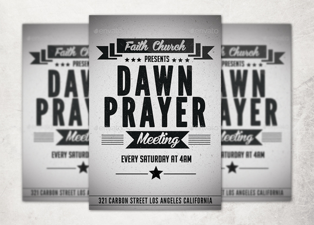 Retro Church Flyer Template Inspiks Market - black and white flyer template