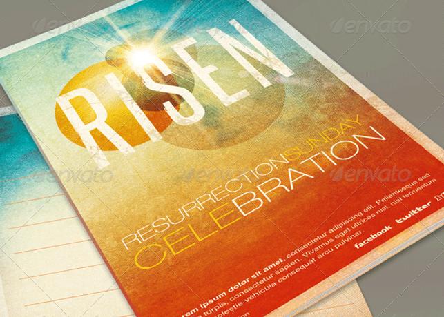 Risen Church Bulletin Template Inspiks Market