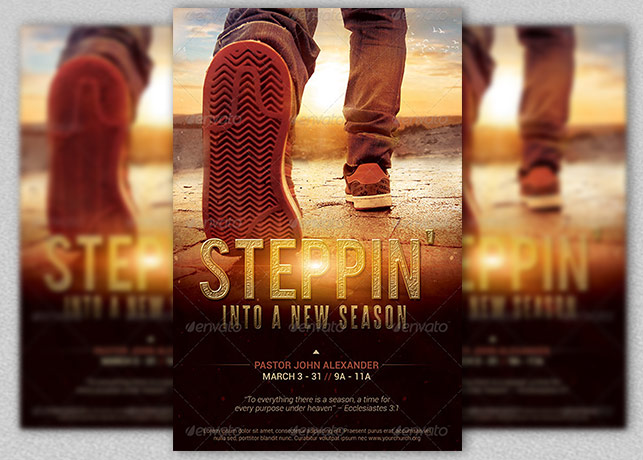 Stepping Into a New Season Church Flyer Template Inspiks Market