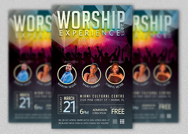 Worship Concert Flyer Template Inspiks Market - music flyer template