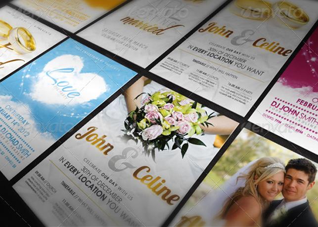 Love and Wedding Flyer Template Bundle III Inspiks Market