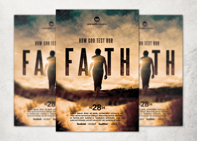 How God Test Our Faith Church Flyer Template Inspiks Market