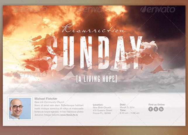 Resurrection Sunday Church Flyer Template Inspiks Market