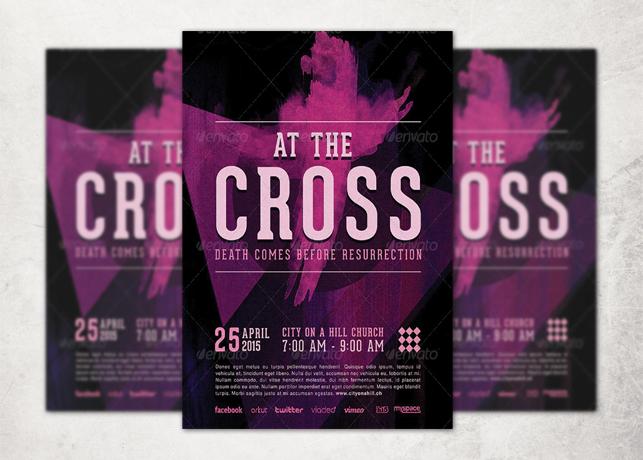 The Cross Church Flyer Template Inspiks Market