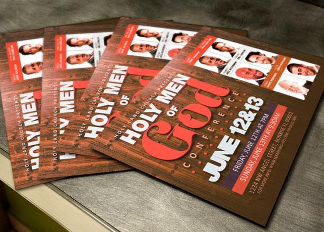 Men of God Conference Flyer Template Inspiks Market
