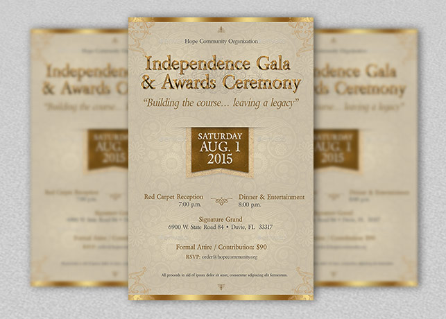 Independence Gala Flyer Template Inspiks Market - Ball Ticket Template