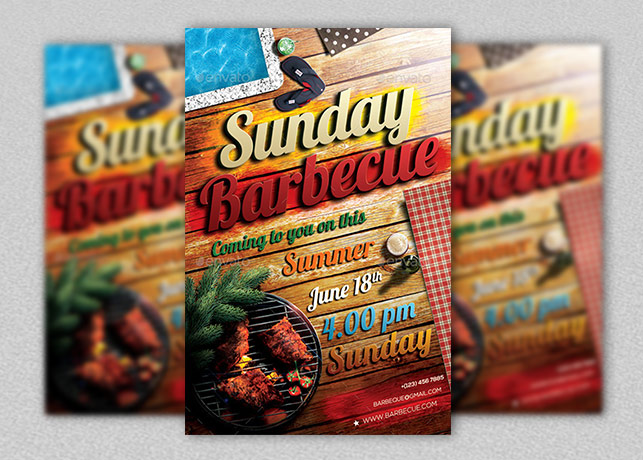 Sunday Barbecue Flyer Template Inspiks Market