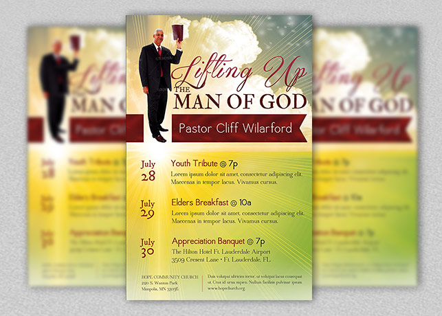Pastor Appreciation Church Flyer Template Inspiks Market - luncheon flyer template