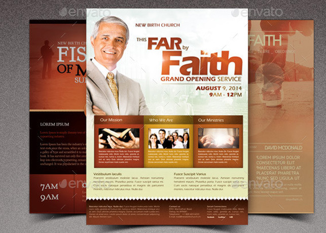 Faith Church Marketing Flyer Bundle Inspiks Market