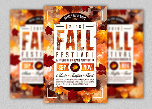 Fall Festival Flyer Template Inspiks Market