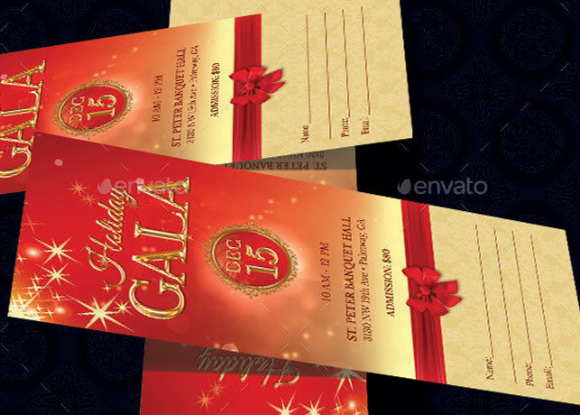 Holiday Banquet Ticket Template Inspiks Market - banquet ticket template