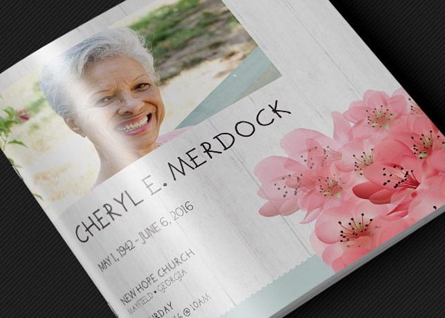 Square Funeral Program Template - Photoshop Inspiks Market - funeral flyer template