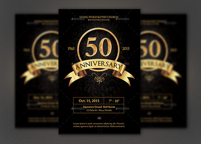 Anniversary Flyer Photoshop Template Inspiks Market - anniversary flyer