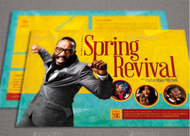 Free Church Revival Flyer Template Costumepartyrun