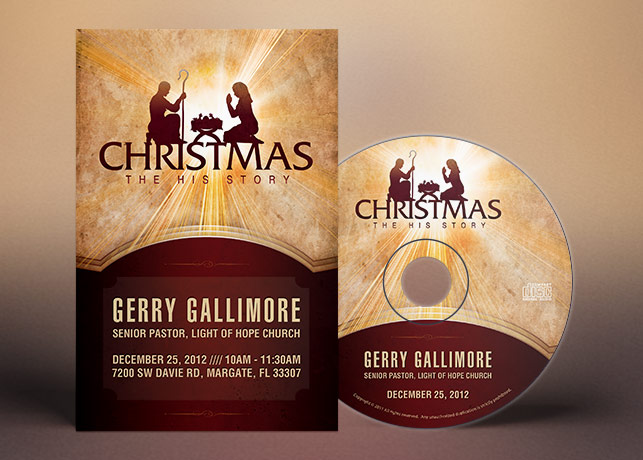 Christmas Story Flyer CD Label Template INSPIKS