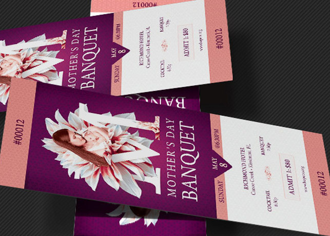 Mothers Day Banquet Ticket Template Inspiks Market
