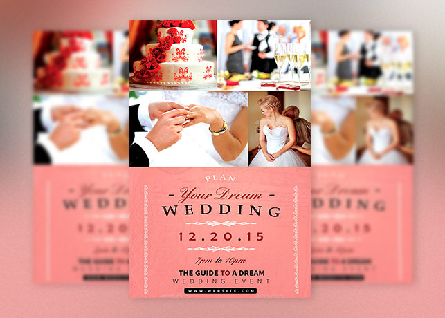 Dream Wedding Event Flyer Template Inspiks Market - wedding flyer