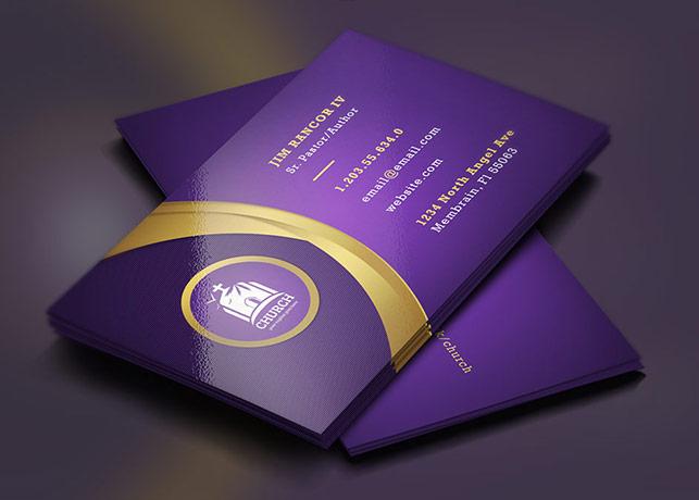 Lavender Gold Church Business Card Template Inspiks Market
