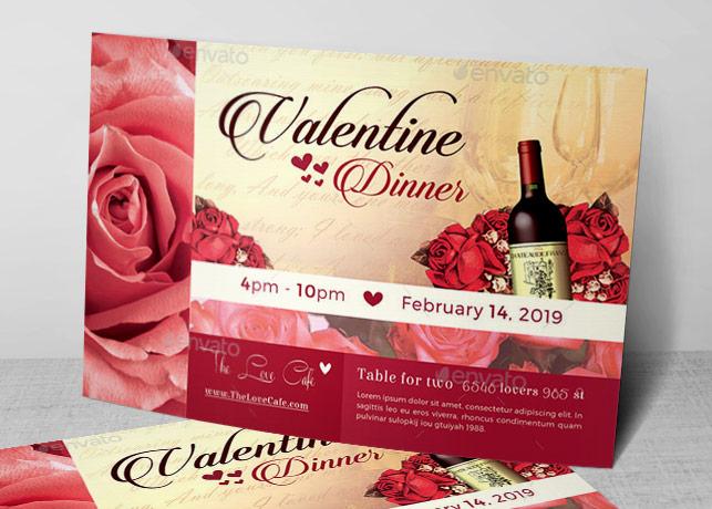 Valentine Dinner Flyer Template Inspiks Market