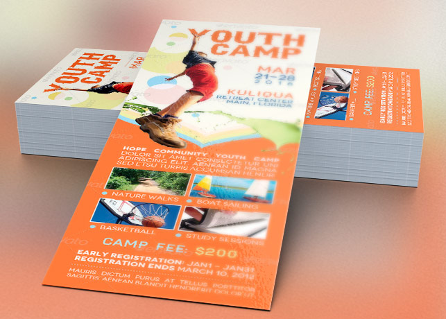 Youth Camp Mini Flyer Template Inspiks Market