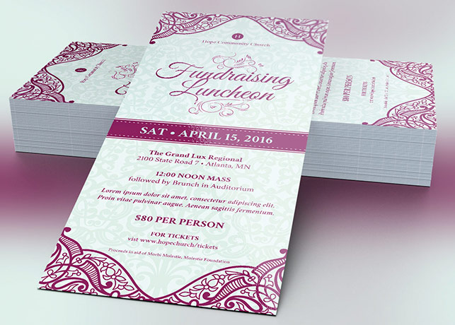 Fundraising Luncheon Flyer Template Inspiks Market - luncheon flyer template