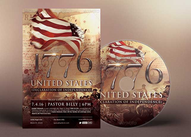 1776 Independence Day Flyer CD Template Inspiks Market - independence day flyer