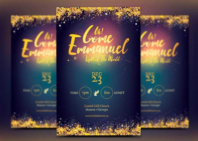 Emmanuel Christmas Flyer Template Inspiks Market