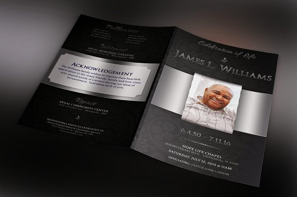 Black Dignity Funeral Brochure Template Inspiks Market