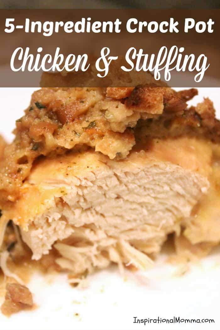 Simple and delicious, this 5-Ingredient Crock Pot Chicken & Stuffing ...