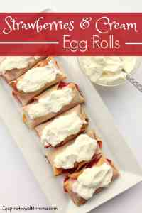 Strawberries & Cream Egg Rolls