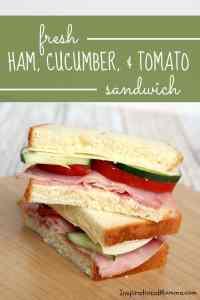 Fresh Ham, Cucumber, & Tomato Sandwich