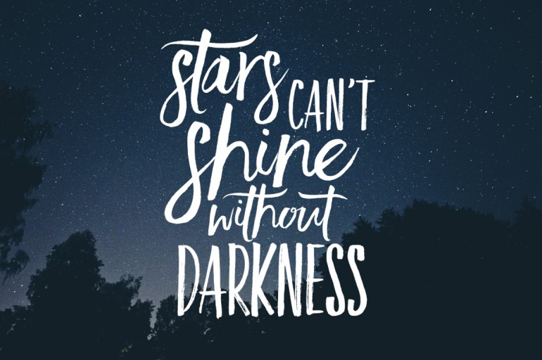 Inspirational Quote Wallpaper Generator Stars Can T Shine Without Darkness On Inspirationde