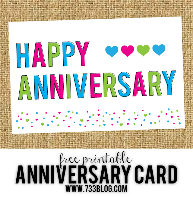 Free Printable Anniversary Cards - Inspiration Made Simple - printable anniversary cards for him