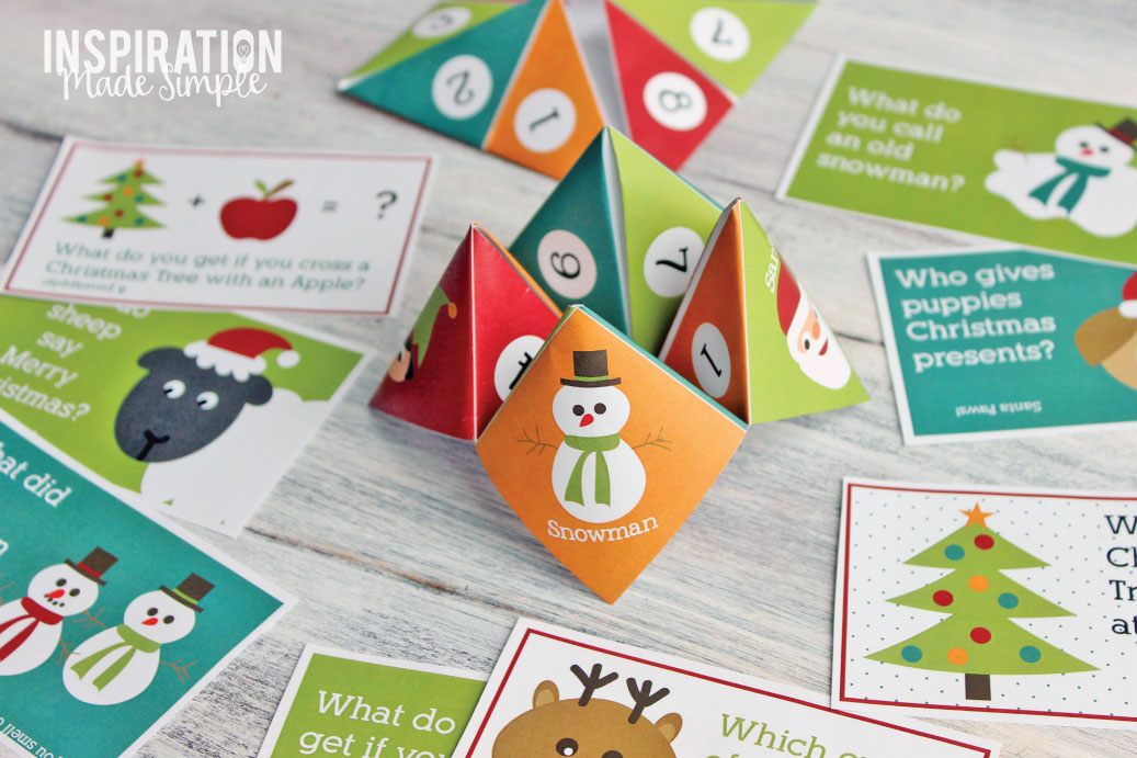 Printable Christmas Cootie Catcher - Inspiration Made Simple